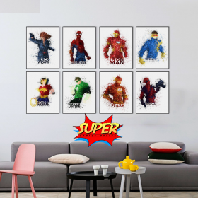 Superhero Canvas Decor Painting