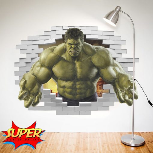 Superhero Decorative Sticker - The Incredible Hulk - Super Comics Online