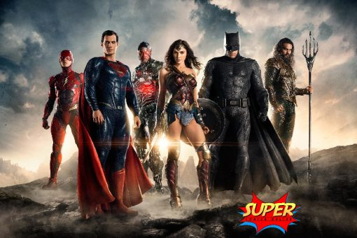 Justice League Superhero Glossy Silk Poster - Super Comics Online