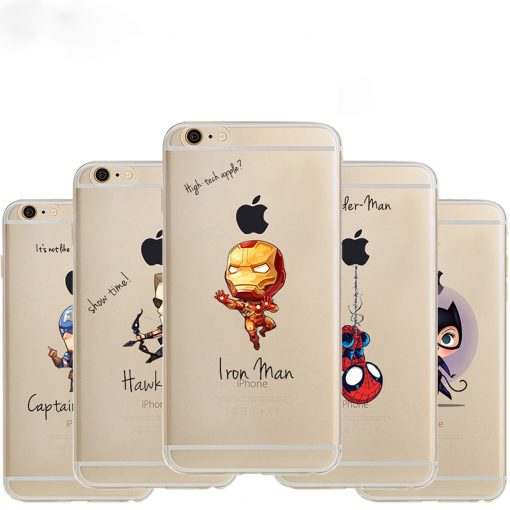 Soft Phone Case with Superheroes - Super Comics Online